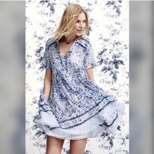 Anthropologie Maeve Morning Mist Dress